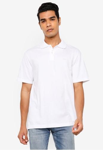 GAP white Logo Jersey Polo Shirt 590D7AAE043A98GS_1