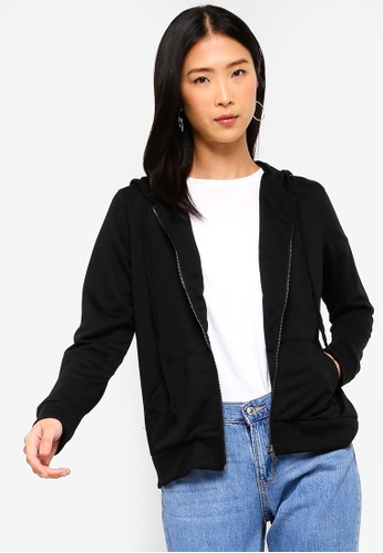 ZALORA BASICS black Basic Hooded Jacket AB471AAA30B3B1GS_1