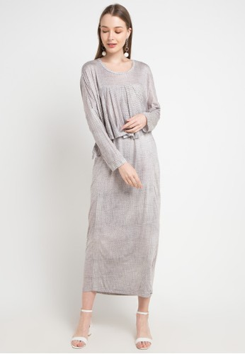 Covering Story red and grey Billa Dress - A D5118AA88853D4GS_1