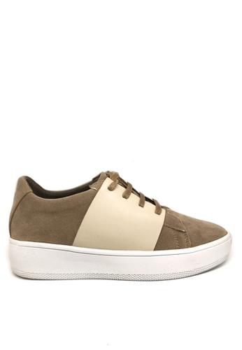 Twenty Eight Shoes beige Synthetic Suede Platform Sneakers 8296 DD181SH7E3B979GS_1