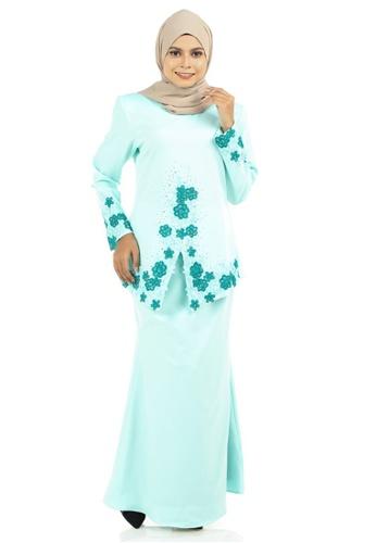 Ashura green Deya Kebaya With Patched Lace 3734DAABD3FF84GS_1