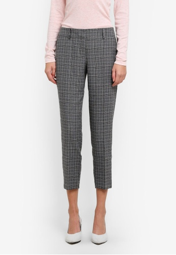 Dorothy Perkins grey Slim Tailored Ankle Grazer Pants DO816AA0SD53MY_1