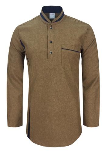 Pacolino brown Baju Kurta Muslim For Kids - EK1803 (Brown) 17E14KAB389C89GS_1