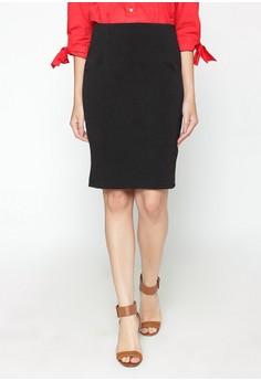 Blanik black Kelia Jaquard Midi Skirt BL598AA51PGYID 1 0fdd43c4a3