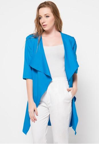 Raspberry blue Juliana Sleeve Cardigan RA572AA77OUSID_1