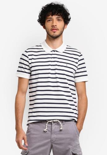 ESPRIT white Short Sleeve Polo Shirt 8E91BAA3F85869GS_1