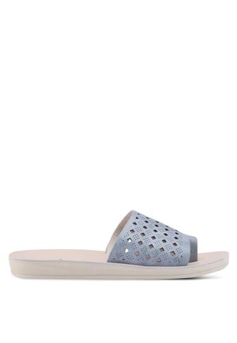 Noveni blue Slide-On Sandals 2B601SHE3185D5GS_1