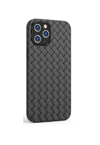 Kings Collection black Classic Woven Pattern iPhone 12 Pro / 12 Case (KCMCL2261) 75BA0AC3211DEAGS_1