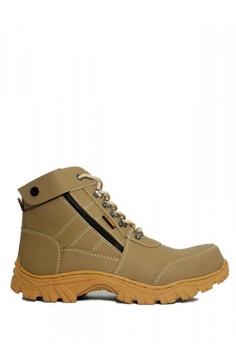 Cut Engineer grey Cut Engineer Zipper Combo Safety Boots Iron Leather Grey  181B8SH7F52499GS 1 2e0eb4bb2f