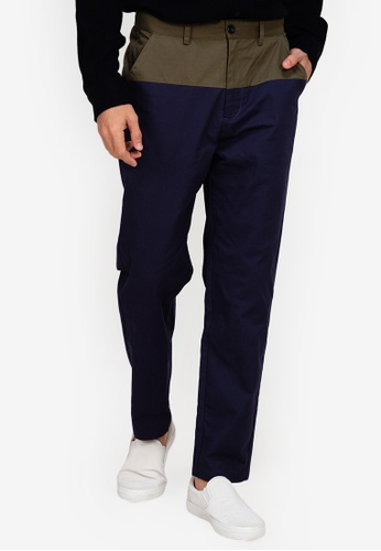 ZALORA BASICS multi Two Tone Trousers 371DEAA8550BE4GS_1