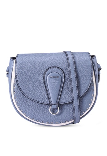 Fendi blue Selleria Stitch Saddle Bag (zt) 461E4AC1DDA3CCGS_1