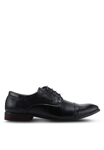UniqTee black Cap Toe Lace Up Formal Shoes C10E9SH7450CD9GS_1