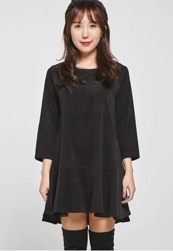 韓流時尚 打褶迷你連衣裙 F4esprit台灣門市057, 服飾, 洋裝