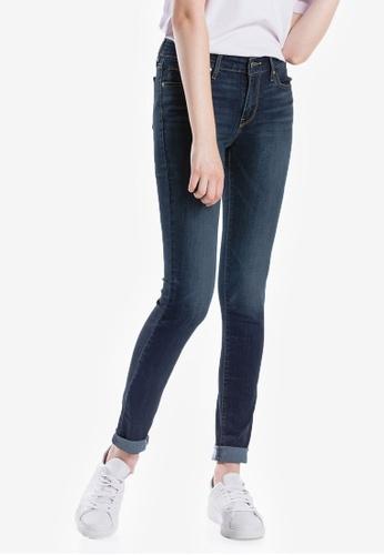 Levi's blue 711 Womens Skinny Jeans CFF1CAA84E9512GS_1