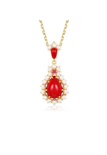 SUNSET gold Premium 925 Sliver Pearl Necklace 47BD3AC2C8C9A1GS_1