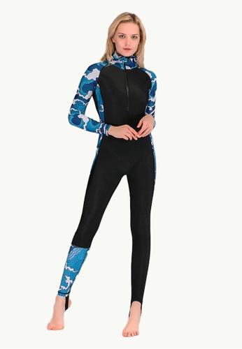 LYCKA black LSK1702c-European Style Lady Rashguard-Black 0D8E0US4096F50GS_1
