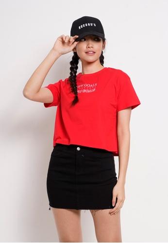 Fave red Short Sleeve Fashion Tee 3EAB2AA182D6A9GS_1