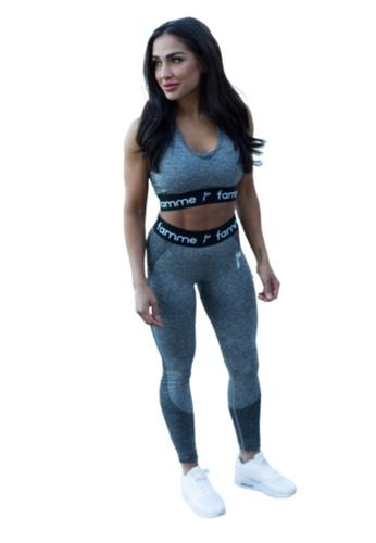 Famme Sportswear Famme Sportswear Dark Grey Wave Leggings AB4D2AA81150DFGS_1