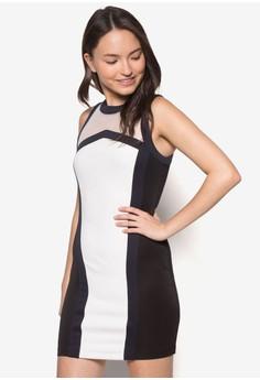 Contrast Binding Bodycon Dress