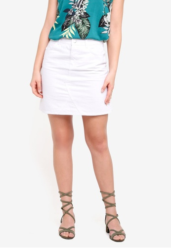 Dorothy Perkins white White Rework Denim Mini Skirt C195DAA1B2D5DEGS_1