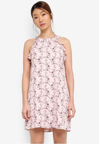 Something Borrowed pink Cut In Swing Dress With Ruffles 2E8D7AA8B86463GS_1