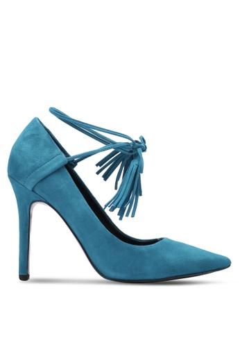 Guess blue Binum Lace-Up Heels GU020SH0S7KQMY_1