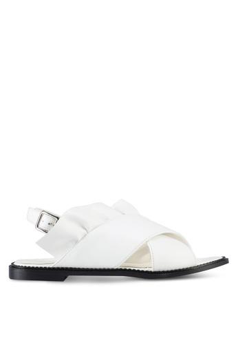 Something Borrowed white Ruffled Sandals 42D2ESH2C74599GS_1