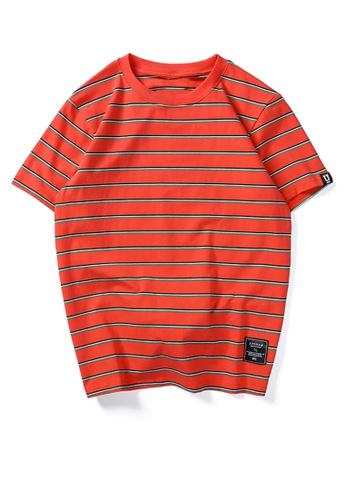 HAPPY FRIDAYS 寬鬆撞色條紋短袖T恤 UP738 FCB1DAA22C2685GS_1