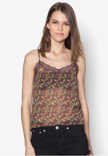 Orom 蕾絲邊esprit 工作飾花卉圖案背心, 服飾, 塑身衣