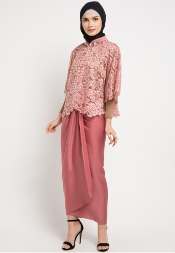 LUIRE by Raden Sirait pink and multi Bdc-Queen 41C36AAE87A4B0GS_1