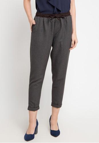 MEITAVI'S multi and grey Contrast Straight Pants 29121AA433912BGS_1