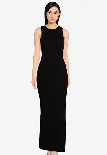 Mango black Tailored Ribbed Dress 7CA31AA25309DEGS_1