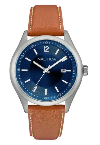 NAUTICA brown Nautica Urban Night & Day Leather Strap NA146AC81OAWSG_1