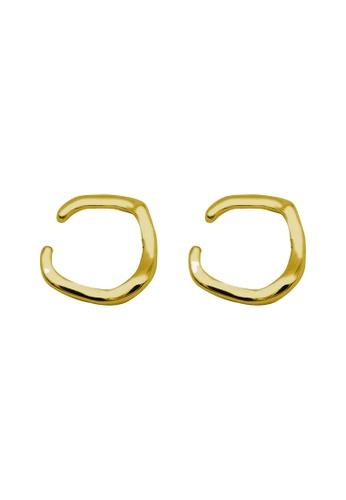 LYCKA gold LDR1209 S925 Silver Minimal Irregular Clip Earrings 41124ACB00C98DGS_1