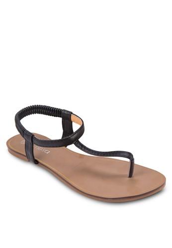 T 字esprit tsim sha tsui帶平底涼鞋, 女鞋, 鞋