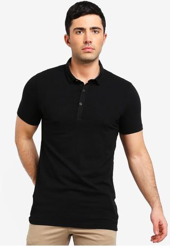 Brave Soul black Shield Polo Shirt 04B96AA5473C8EGS_1