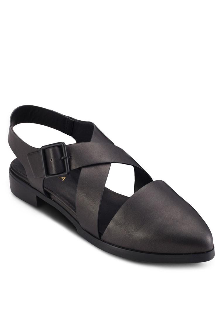 Cross Strap Loafers