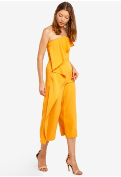 7beba17cc6f 64% OFF Lavish Alice Bardot Asymmetric Draped Culotte Jumpsuit Rp 1.449.000  SEKARANG Rp 520.900 Ukuran 14 16