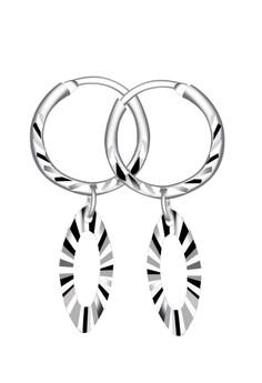 Disk Loop Dangling Earring