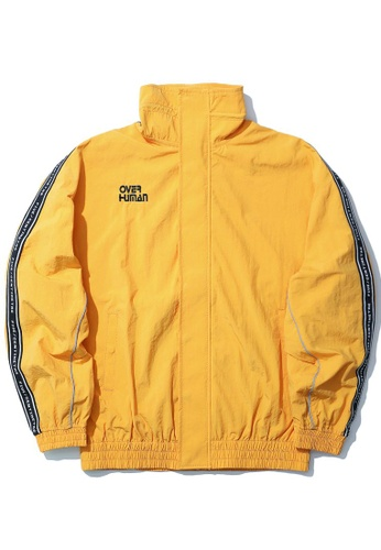 Fivecm yellow Over Human taped jacket B3814AA174306CGS_1