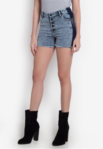 Freshgear grey Denim Blocking Shorts FR757AA0JDWUPH_1