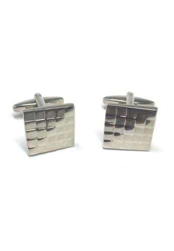 Splice Cufflinks silver Silver Squares Gradient Cufflinks SP744AC18FSZSG_1