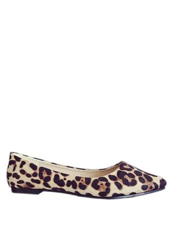 Twenty Eight Shoes beige Comfort Leopard-Print Ballerinas VL1812 C7A9DSHCA7034AGS_1