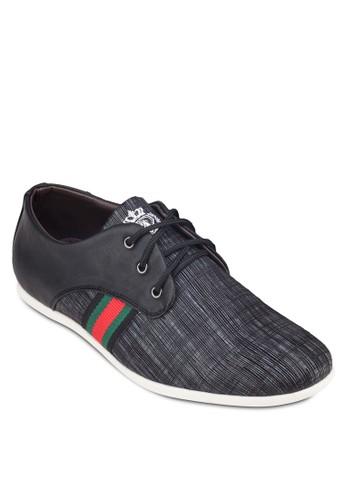 暗紋條紋拼接esprit 西裝運動鞋, 鞋, 鞋