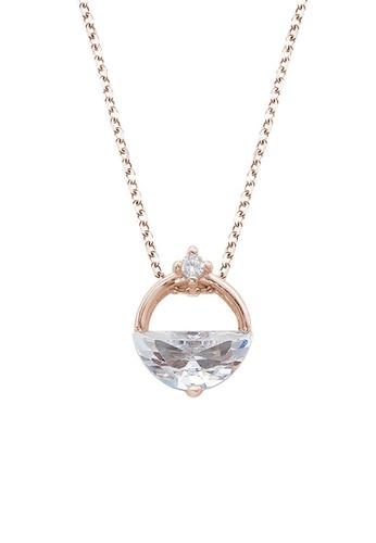 Twenty Eight Shoes gold VANSA Simple Diamond Pendant Necklace VAW-N265 7D472ACC9CA889GS_1