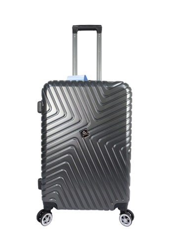Poly-Pac grey GiorX GXA2070 20inch Ultra Strength Anti Scratch Polycarbonate Expendable Hard Case Luggage D0AE7ACF15A94FGS_1