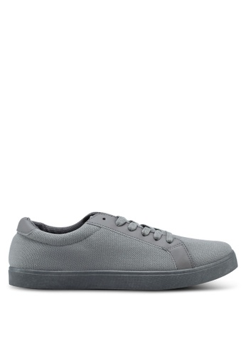 Penshoppe grey Canvas Sneakers 03097SH9F83A11GS_1