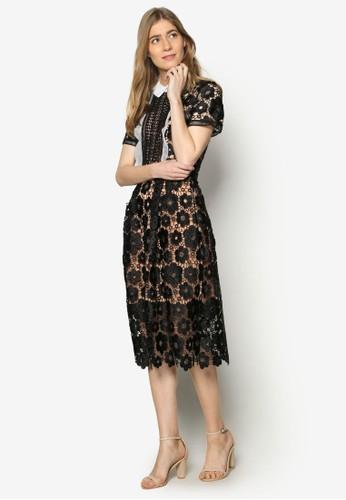 Lesley 標準領蕾絲zalora鞋子評價洋裝, 服飾, 洋裝