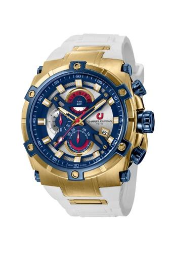 Charles Jourdan gold Charles Jourdan Men Watch Chronograph CJ1022-1212C CH774AC0VZ00ID_1