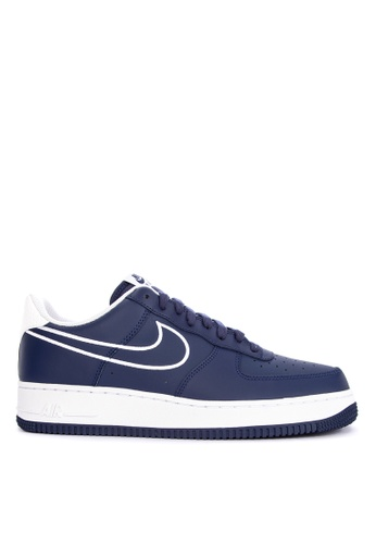 Nike blue Nike Air Force 1 '07 Leather Shoes D559FSH09DCBF8GS_1